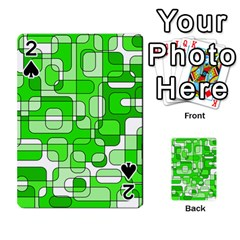 Green decorative abstraction  Playing Cards 54 Designs