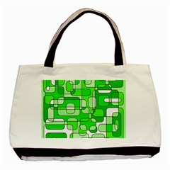 Green Decorative Abstraction  Basic Tote Bag