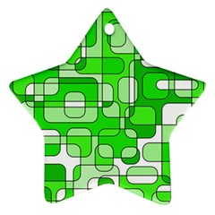 Green decorative abstraction  Star Ornament (Two Sides)