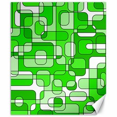 Green decorative abstraction  Canvas 20  x 24