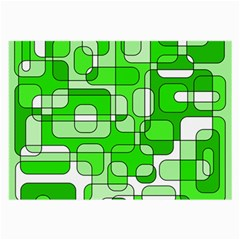 Green decorative abstraction  Large Glasses Cloth (2-Side)