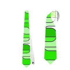 Green decorative abstraction  Neckties (Two Side)