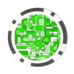 Green decorative abstraction  Poker Chip Card Guards