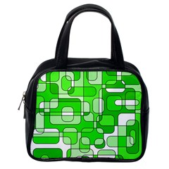 Green decorative abstraction  Classic Handbags (One Side)