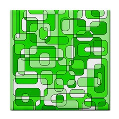Green decorative abstraction  Face Towel