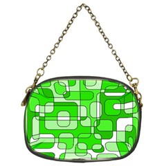 Green decorative abstraction  Chain Purses (Two Sides)
