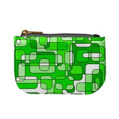 Green decorative abstraction  Mini Coin Purses