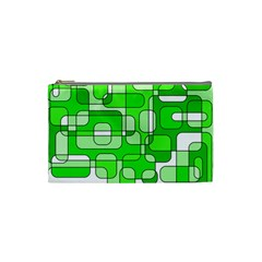 Green decorative abstraction  Cosmetic Bag (Small)
