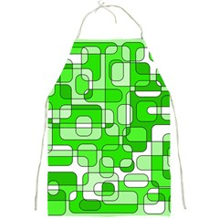 Green decorative abstraction  Full Print Aprons