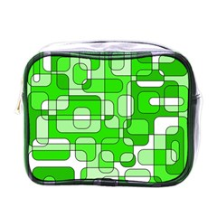 Green decorative abstraction  Mini Toiletries Bags