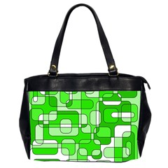 Green decorative abstraction  Office Handbags (2 Sides)
