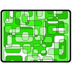 Green decorative abstraction  Fleece Blanket (Large)