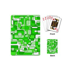 Green decorative abstraction  Playing Cards (Mini)