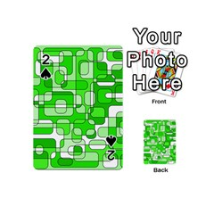 Green decorative abstraction  Playing Cards 54 (Mini)