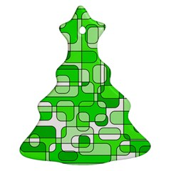Green decorative abstraction  Christmas Tree Ornament (2 Sides)