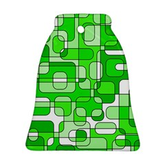 Green decorative abstraction  Bell Ornament (2 Sides)