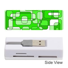Green Decorative Abstraction  Memory Card Reader (stick)