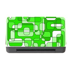 Green decorative abstraction  Memory Card Reader with CF