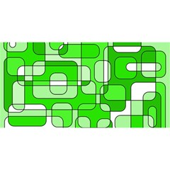 Green decorative abstraction  YOU ARE INVITED 3D Greeting Card (8x4)