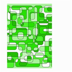 Green decorative abstraction  Small Garden Flag (Two Sides)