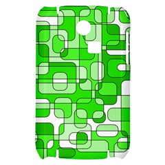 Green decorative abstraction  Samsung S3350 Hardshell Case