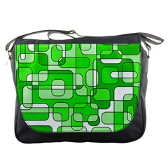 Green decorative abstraction  Messenger Bags