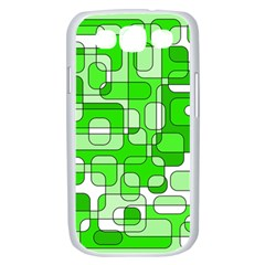 Green decorative abstraction  Samsung Galaxy S III Case (White)