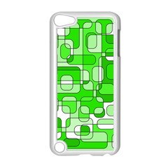 Green decorative abstraction  Apple iPod Touch 5 Case (White)