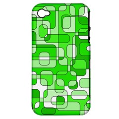 Green decorative abstraction  Apple iPhone 4/4S Hardshell Case (PC+Silicone)