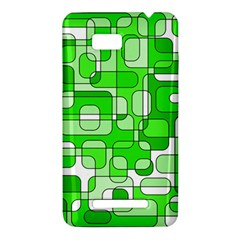 Green decorative abstraction  HTC One SU T528W Hardshell Case