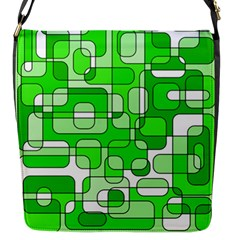 Green decorative abstraction  Flap Messenger Bag (S)