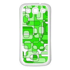 Green decorative abstraction  Samsung Galaxy S3 Back Case (White)