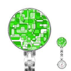 Green decorative abstraction  Stainless Steel Nurses Watch