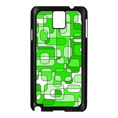 Green decorative abstraction  Samsung Galaxy Note 3 N9005 Case (Black)