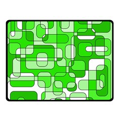 Green decorative abstraction  Double Sided Fleece Blanket (Small)