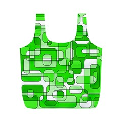 Green decorative abstraction  Full Print Recycle Bags (M)
