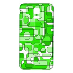 Green decorative abstraction  Samsung Galaxy S5 Back Case (White)