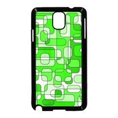 Green decorative abstraction  Samsung Galaxy Note 3 Neo Hardshell Case (Black)