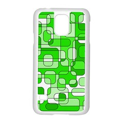 Green decorative abstraction  Samsung Galaxy S5 Case (White)