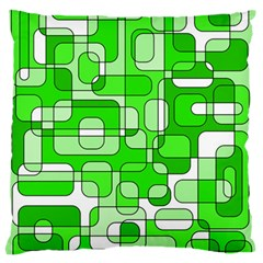 Green decorative abstraction  Large Flano Cushion Case (Two Sides)