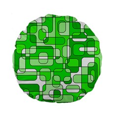 Green decorative abstraction  Standard 15  Premium Flano Round Cushions