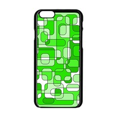 Green decorative abstraction  Apple iPhone 6/6S Black Enamel Case
