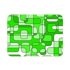 Green decorative abstraction  Double Sided Flano Blanket (Mini)