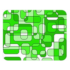 Green decorative abstraction  Double Sided Flano Blanket (Large)