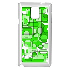 Green decorative abstraction  Samsung Galaxy Note 4 Case (White)