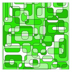 Green decorative abstraction  Large Satin Scarf (Square)