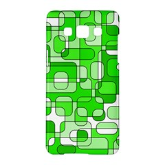 Green decorative abstraction  Samsung Galaxy A5 Hardshell Case