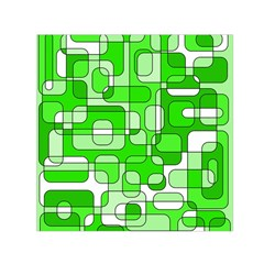 Green decorative abstraction  Small Satin Scarf (Square)
