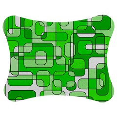 Green decorative abstraction  Jigsaw Puzzle Photo Stand (Bow)