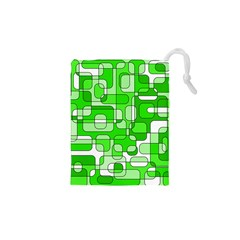 Green decorative abstraction  Drawstring Pouches (XS)
